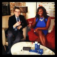 melissa-chataigne-cohost-emmys-with-gerrad-hall-entertainment-weekly
