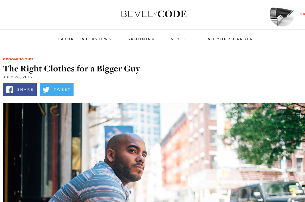 Melissa Chataigne share style tips for large men for Bevel.com