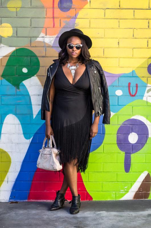 asos-black-fringe-dress-melissa-chataigne-style-janessa-leone-hat