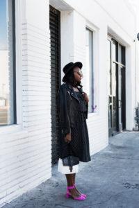 who-what-wear-polkdadot-dress-melissa-chataigne-stylist-leather-jacket-1