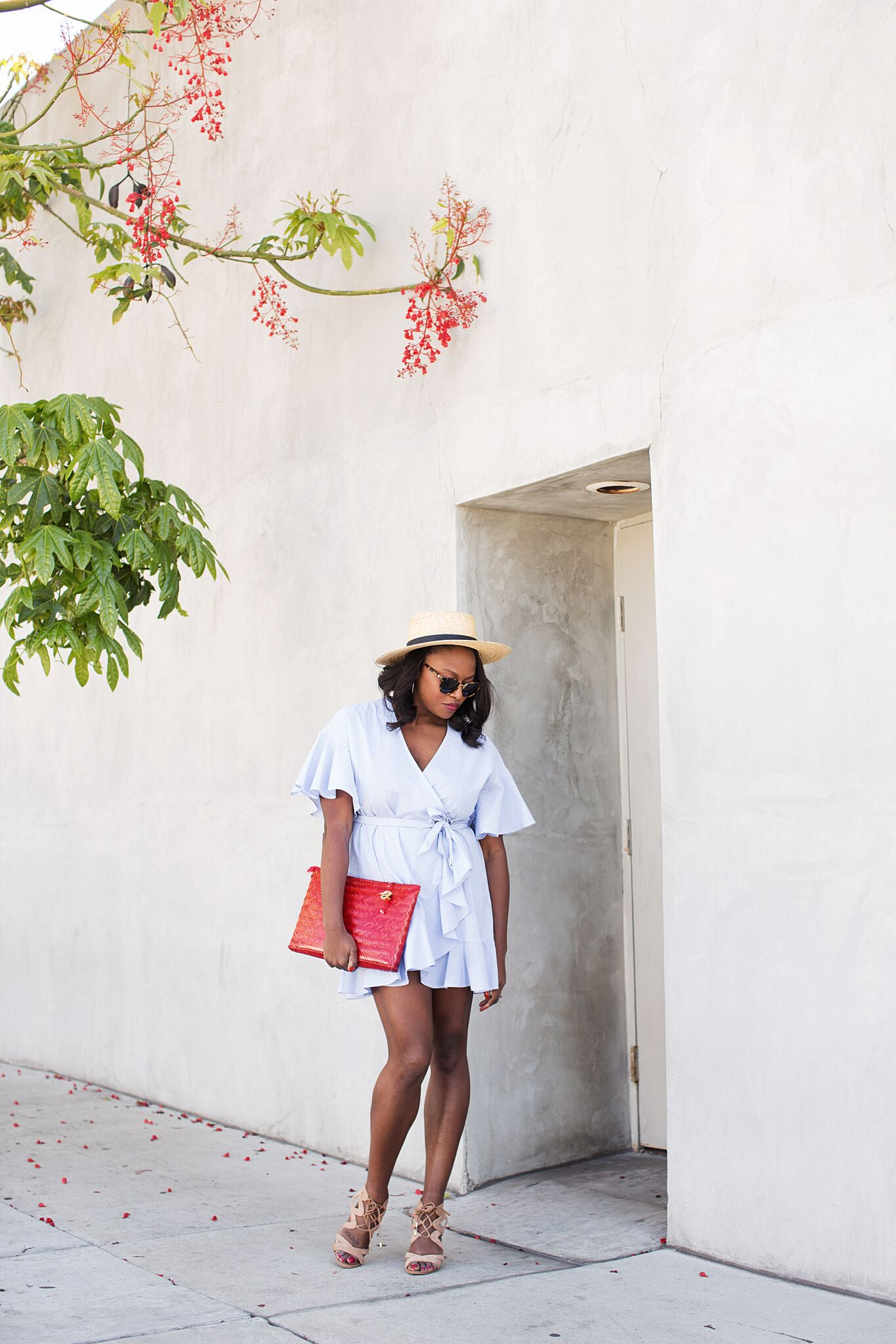 topshop-summer-wrap-dress-melissa-chataigne-style-blogger-klint-hat-3