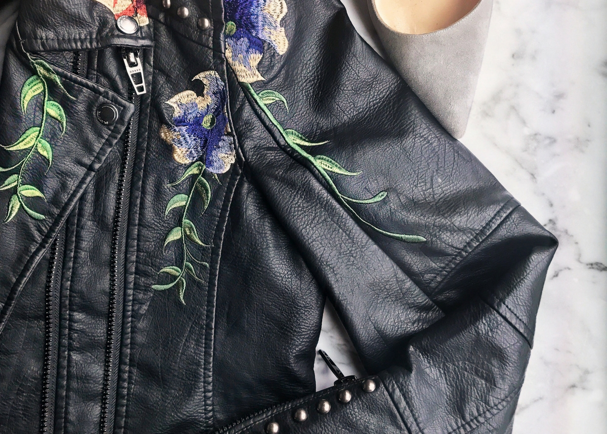 embroidered_vegan_leather_jacket_look_for_less_style_expert_melissa_chataigne