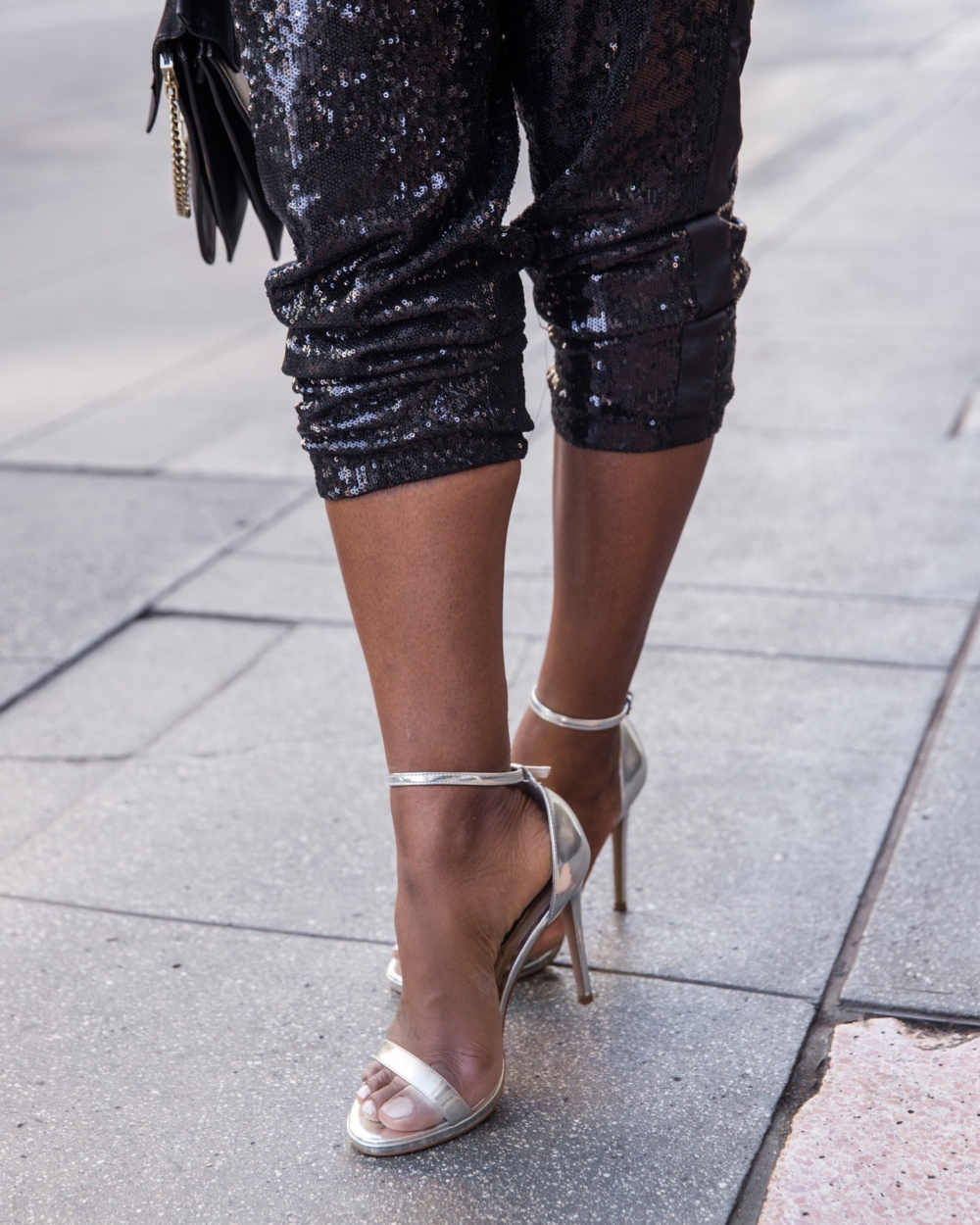 sequins pants for date night