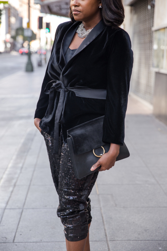 all black date night look for valentines day