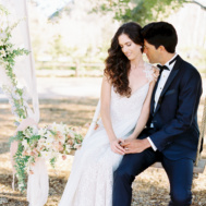 wedding swing with bridal cape _ melissa chataigne bridal
