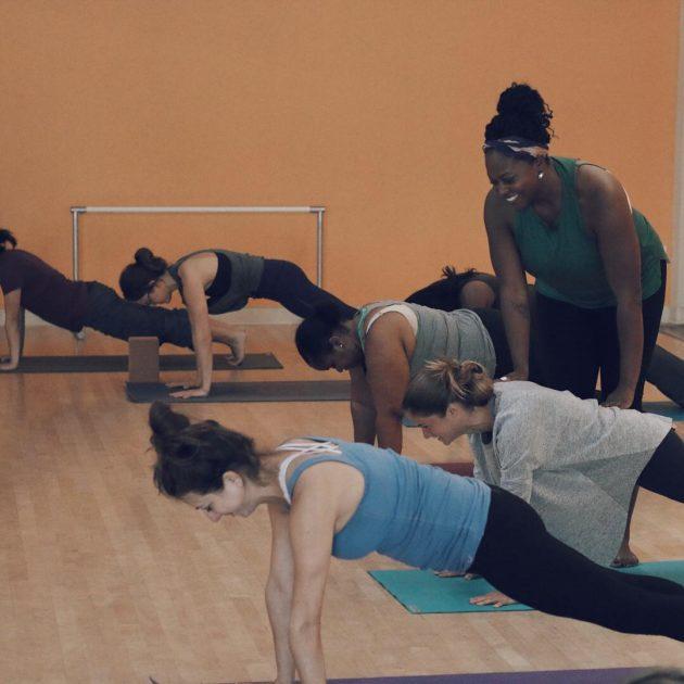 melissa teaching yoga